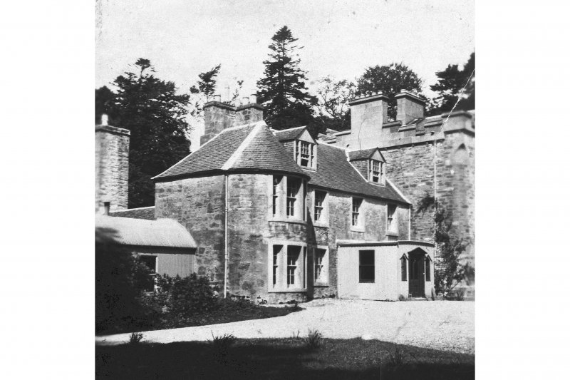 Inverneill House. Photographic copy of historic photograph showing original house before demolition.