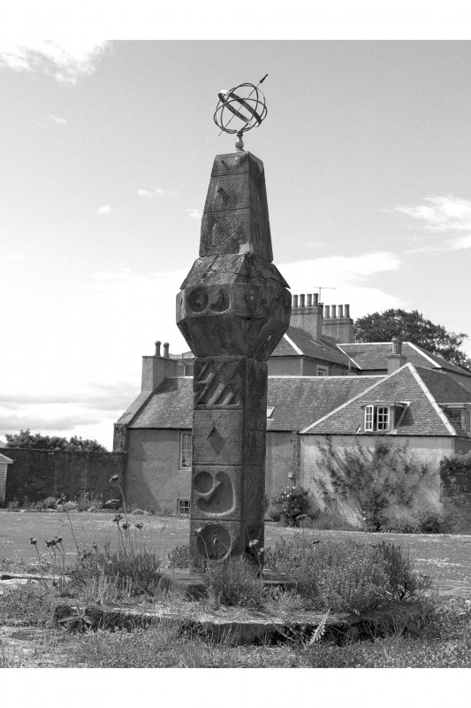 View of sundial, Ardlamont House, from north west