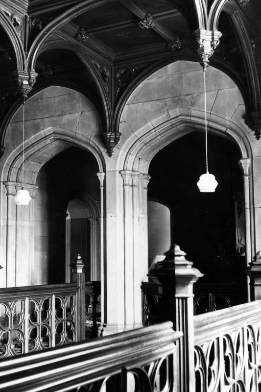 Minard House (Castle), interior. View of stair landing.