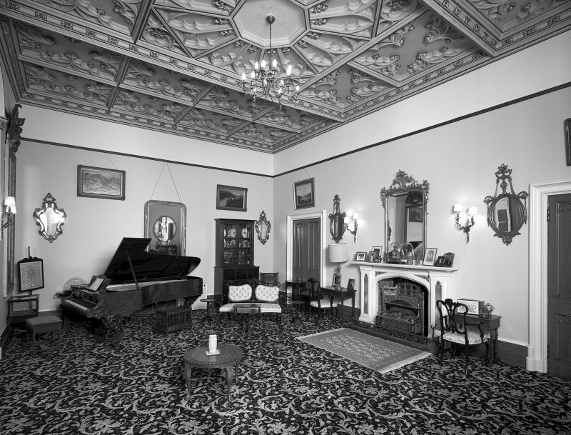 Minard House (Castle), interior. View of first-floor drawing room from South-East.