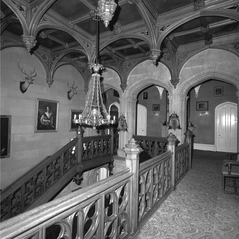 Minard House (Castle), interior. View of first-floor stair-landing from South.