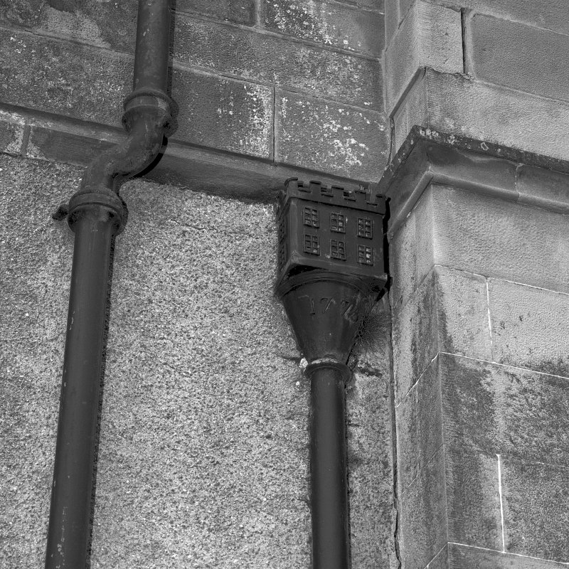 Minard House (Castle). Detail of rainwater head.