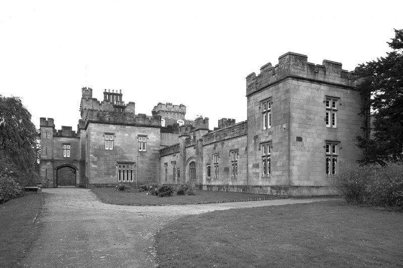 Minard House (Castle). General view from North-East showing gallery and chapel.