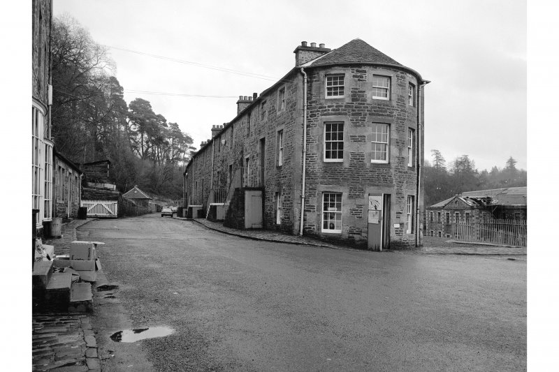 New Lanark, Caithness Row and the Counting House General View