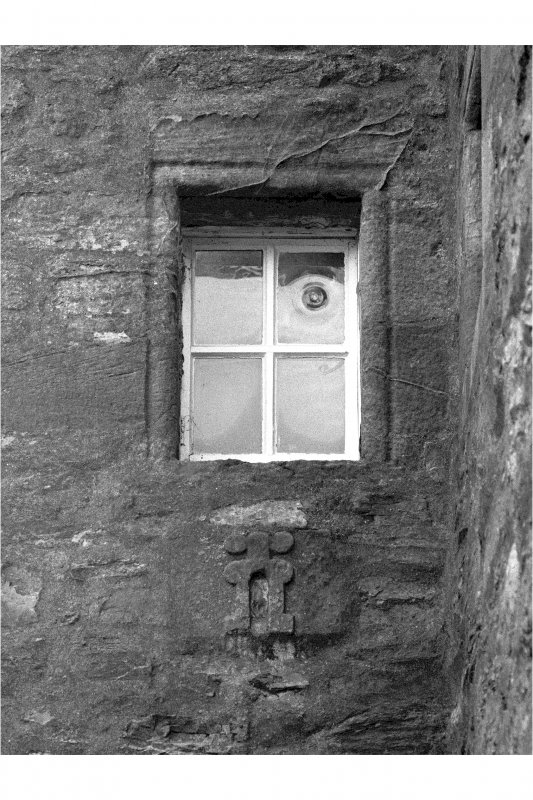 Dunderave Castle Detail of window and pistol loop on East wall of South wing
