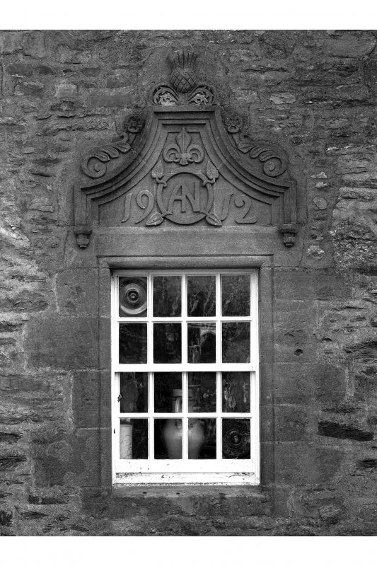 Dunderave Castle Detail of pedimented window on South East range dated '1912'