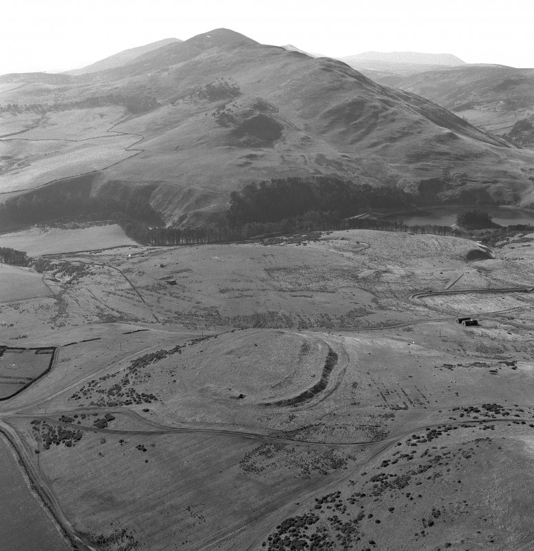 Oblique aerial photograph of Castle Law fort.
