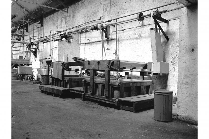 Dundee, Princes Street, Upper Dens Mills, Interior View of fulling house showing dyeing machines