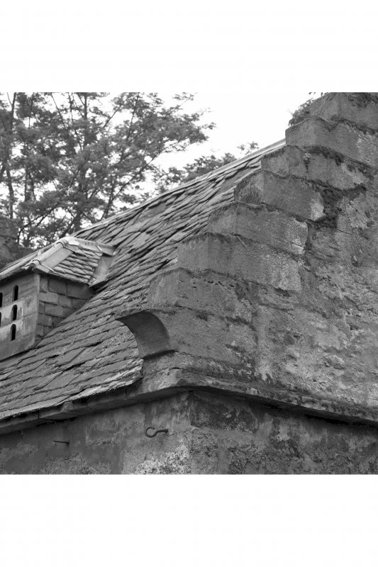 Roof and crow stepped gable, detail
