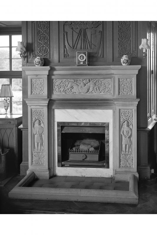 Craignish Castle, Interior Detail of chimneypiece on east wall of north room, first floor of tower