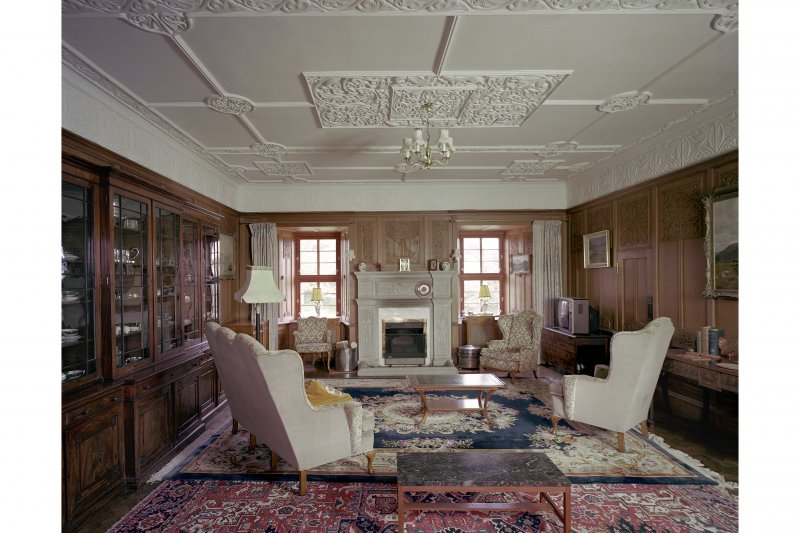 Craignish Castle, Interior View of north room on first floor of tower from west
