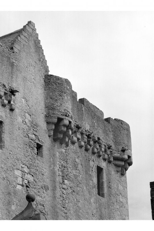 Saddell Castle Detail of parapet on north side of tower-house