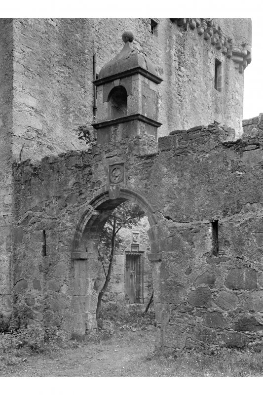 Saddell Castle Detail of courtyard gateway from north