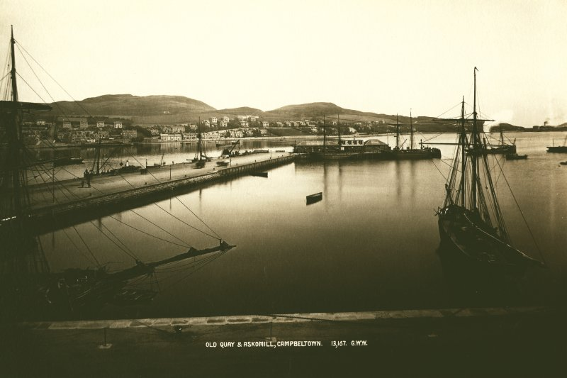 Campbeltown, Harbour General view looking towards Askomill.