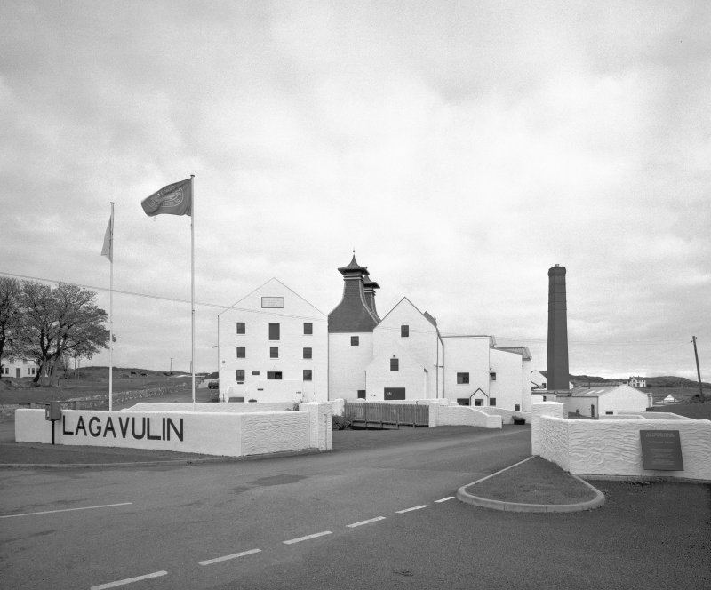 Islay, Lagavulin Distillery.  General view from WSW