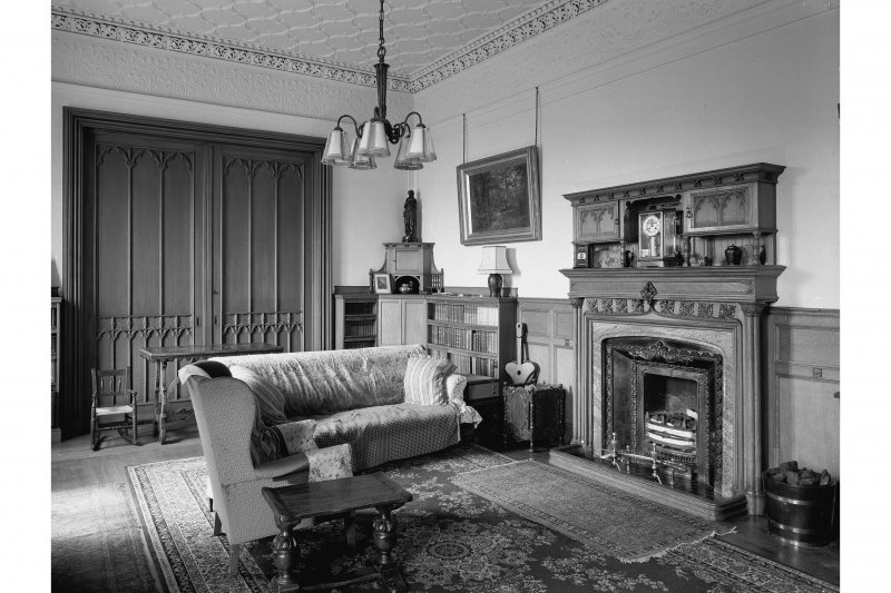 Torrisdale Castle, interior. View of morning room.