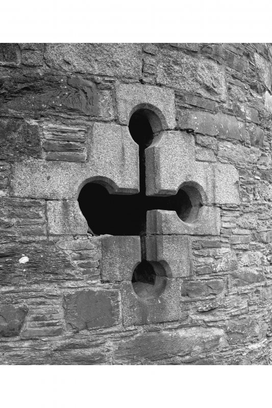 Lochnell House Detail of gun-loop in west tower