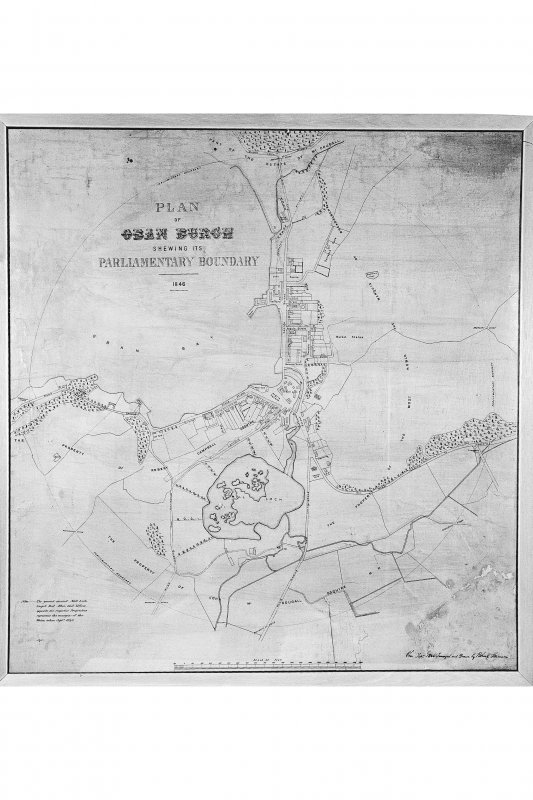 Oban, General. Photographic copy of plan of the burgh of Oban.