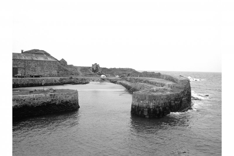 Portsoy, Old Harbour View from SE showing entrance to old harbour