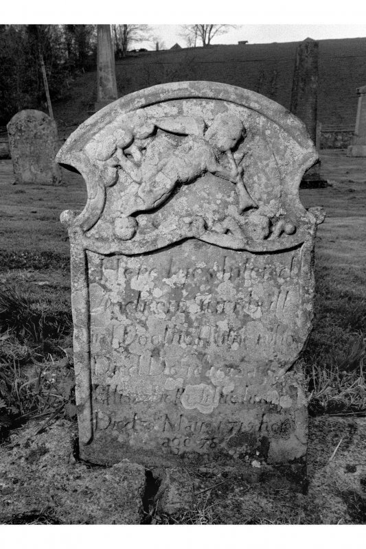 View of gravestone of Andrew Turnbull 16(8)2