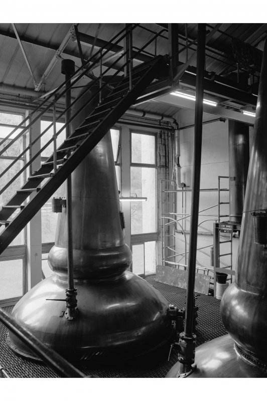 Tomintoul-Glenlivet Distillery, Stillhouse; Interior View of 'old' stillhouse