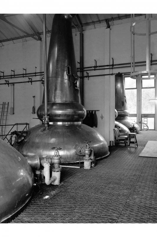 Tomintoul-Glenlivet Distillery, Stillhouse; Interior View of 'new' stillhouse
