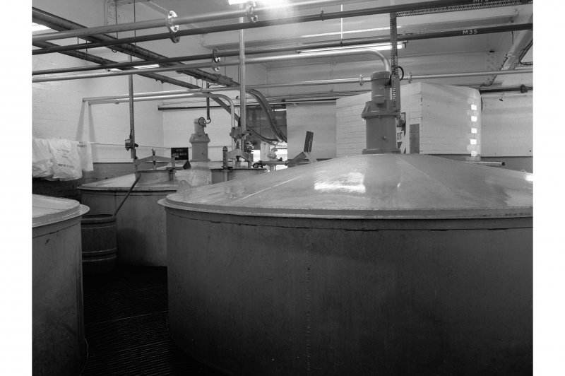 Dumbarton Distillery; Interior View of washbacks