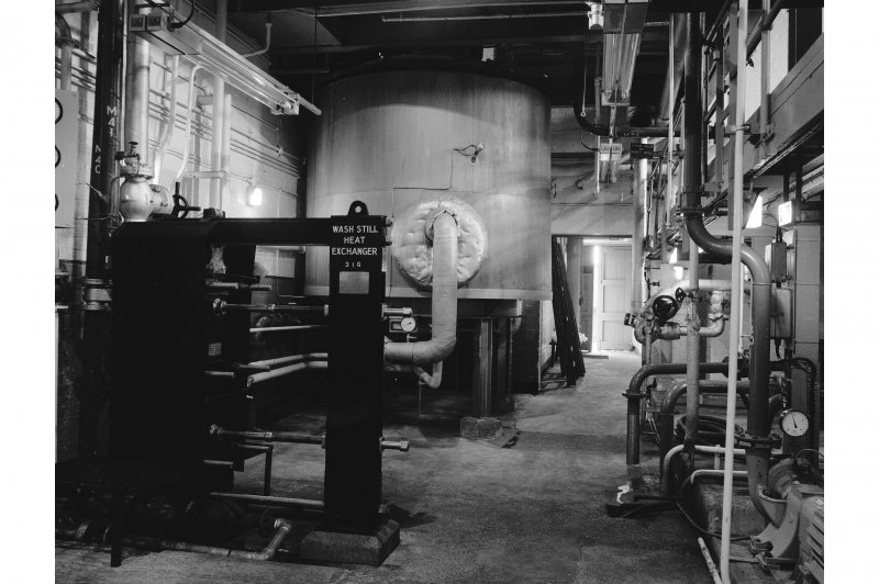 Dumbarton Distillery, Stillhouse; Interior View of was heater and base of Lomond still