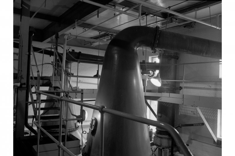 Dumbarton Distillery, Stillhouse; Interior View of top of pot still