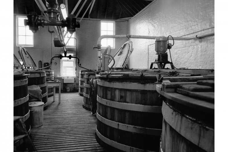 Falkirk, Rosebank Distillery; Interior View of washbacks
