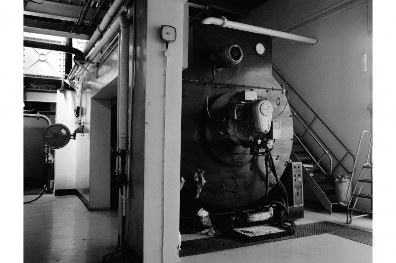 Falkirk, Rosebank Distillery; Interior View of boiler