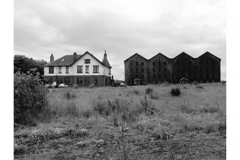 Gartloch Distillery View of bonded warehouse and offices