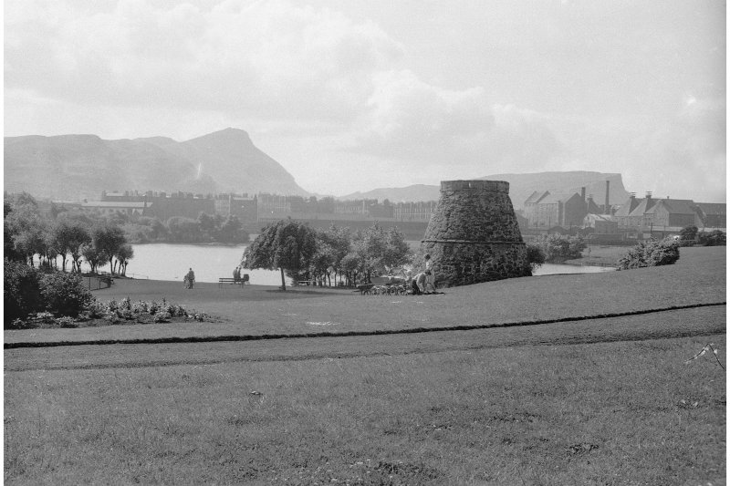 Edinburgh, Lochend Park, Doocot. General view of doocot and park.