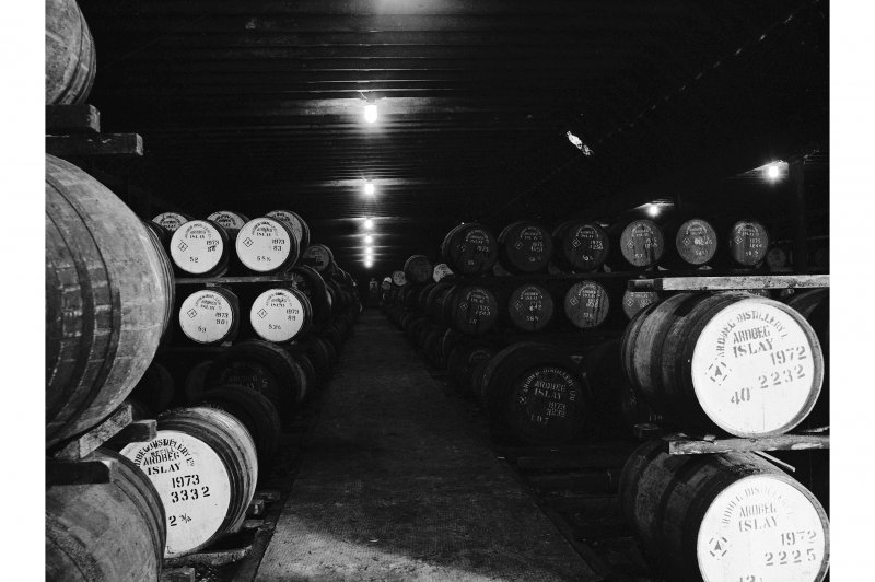Islay, Ardbeg Distillery, Old Warehouse; Interior General View