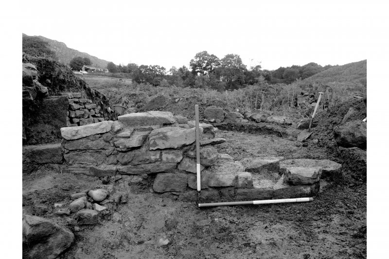 Red Smiddy Ironworks Excavation photograph; pier between tap and blowing arches