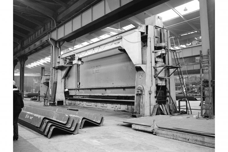 Glasgow, 1048 Govan Road, Fairfield Shipbuilding Yard and Engine Works, Interior View showing bending rolls