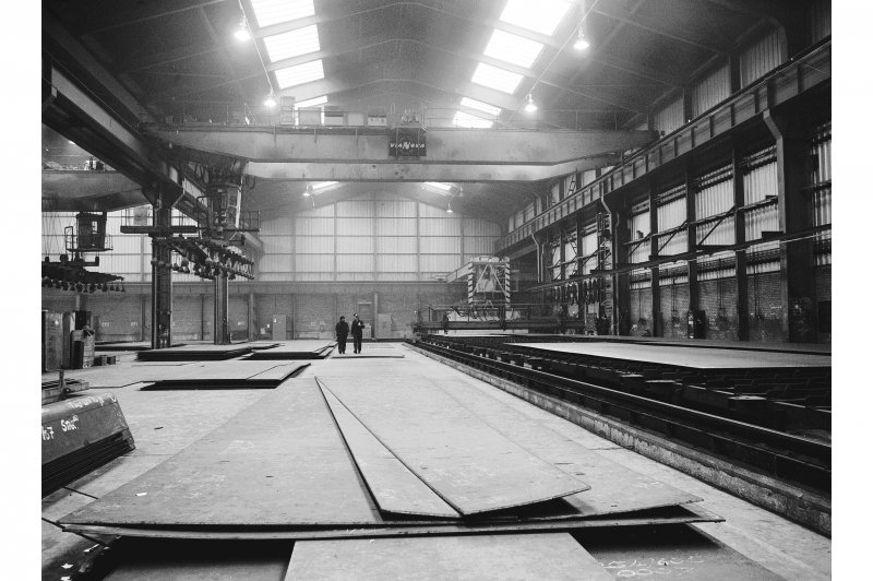 Glasgow, 1048 Govan Road, Fairfield Shipbuilding Yard and Engine Works, Interior View showing profile cutting