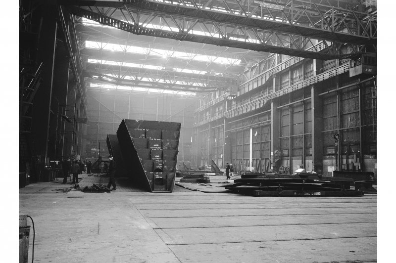 Glasgow, 1048 Govan Road, Fairfield Shipbuilding Yard and Engine Works, Interior View showing fabricating bay