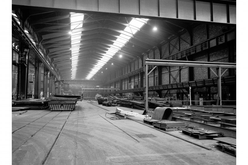 Glasgow, 1048 Govan Road, Fairfield Shipbuilding Yard and Engine Works, Interior View showing bay