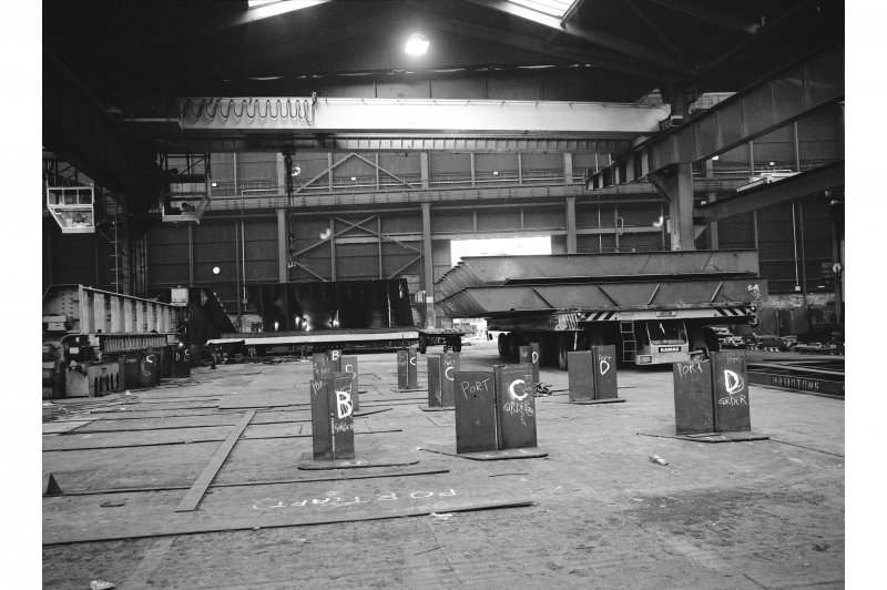 Glasgow, 1048 Govan Road, Fairfield Shipbuilding Yard and Engine Works, Interior View showing transporter