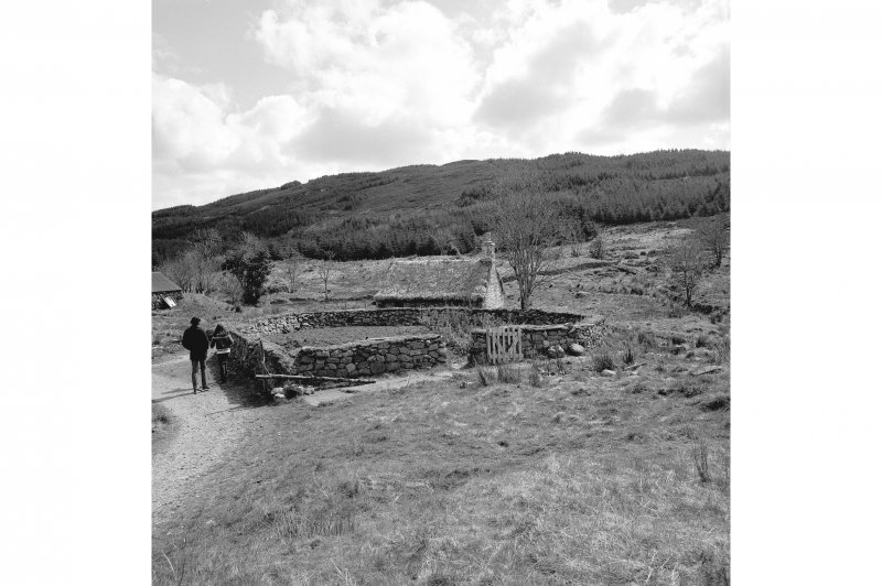 Auchindrain, Township View from NW showing poorhouse and kailyard