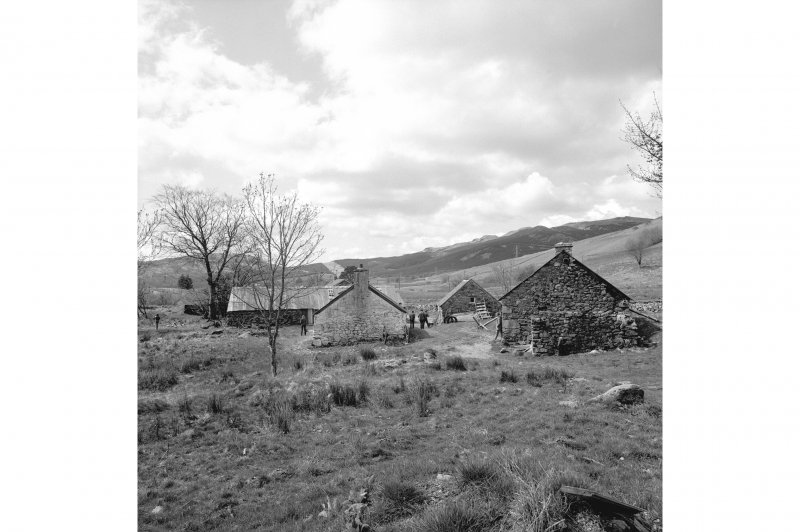 Auchindrain, Township General view from ENE showing central part of township