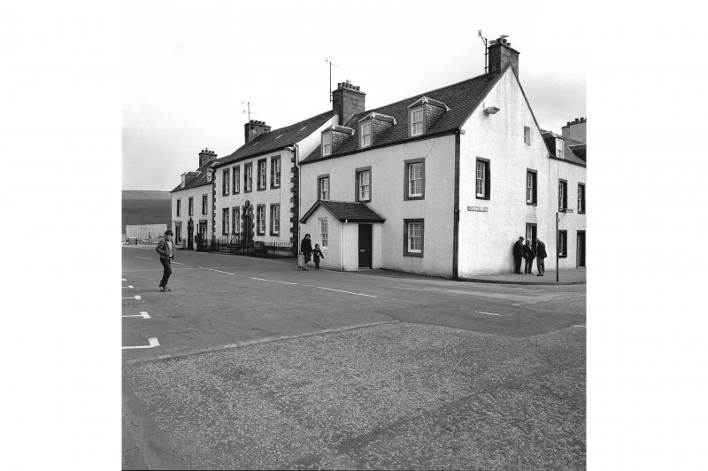 Inveraray, East Front Street General view from NNW showing NNE front of houses and NW and NNE fronts of Temperance Hotel