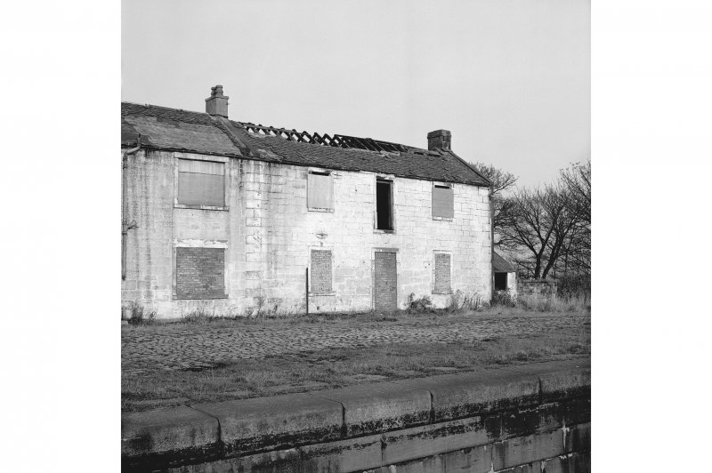 Castlecary, Forth and Clyde Canal Stables View from S showing SSE front of E stable and part of W stable