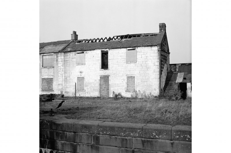 Castlecary, Forth and Clyde Canal Stables View from SE showing SSE front of E stable and part of W stable