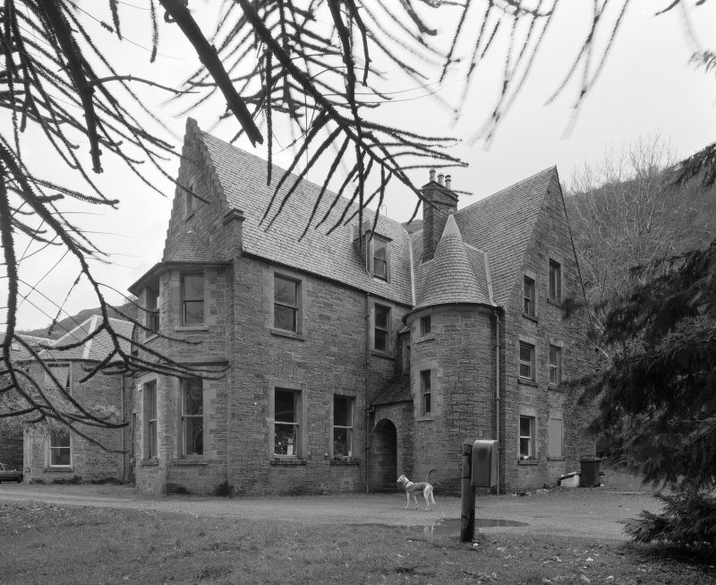 Inverailort House, S wing, view from SW.