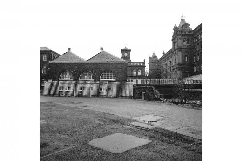 Paisley, Ferguslie Thread Mills View from W of rear of works fire station; to the right is No. 1 Spinning Mill