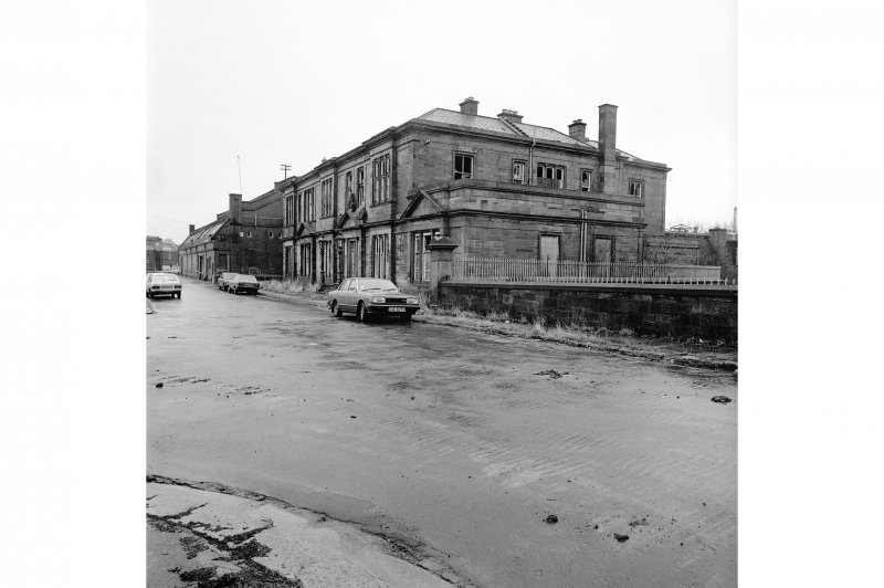 Paisley, Ferguslie Thread Mills View of counting house, from NW