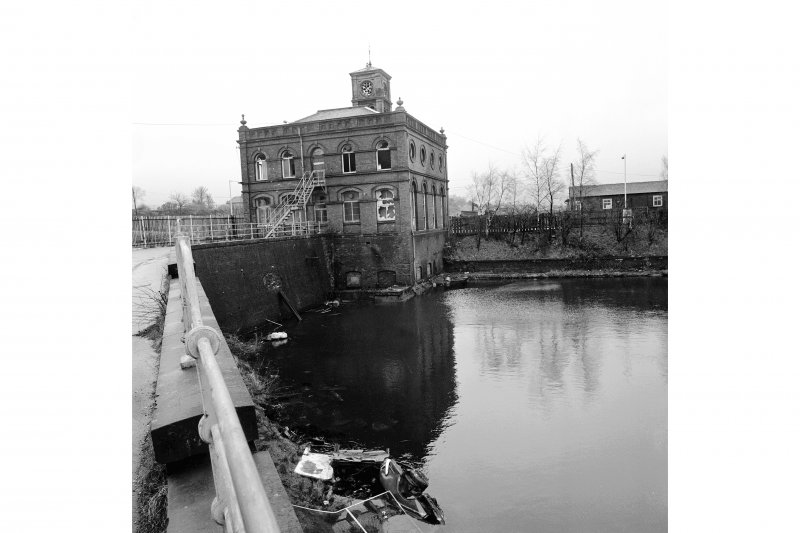 Paisley, Ferguslie Thread Mills View from NE of West Gate House and part of canal basin