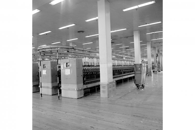 Paisley, Ferguslie Thread Mills, No. 3 Mill; Interior Looking SE on 2nd Flat of No.3 Spinning Mill